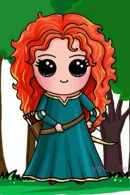 Princesa Merida By:Draw so cute