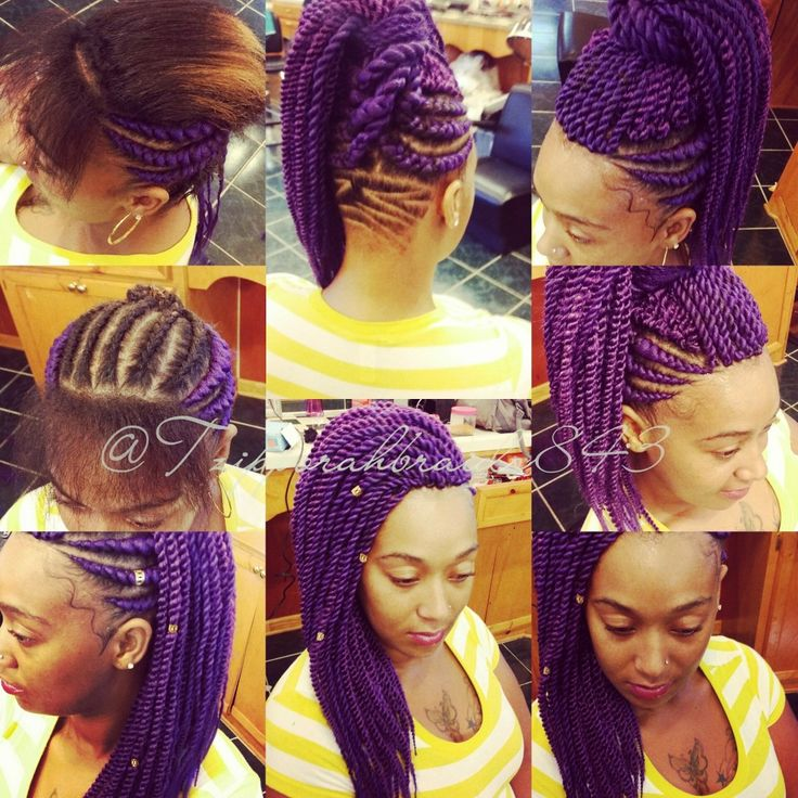 Purple Crochet Box Braids : purple purple braids kute hairstyles crochet weave hairstyles braided ...
