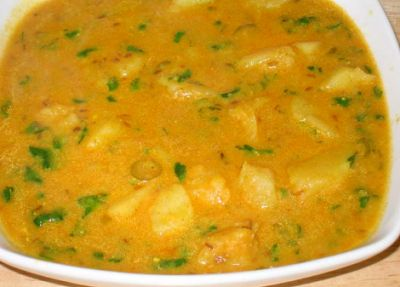 Potato in Curd Gravy Recipe