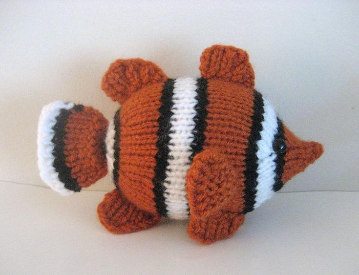 20 best my pattern books images on pinterest crochet toys clown fish knit pattern available in little knitted creatures amigurumi dt1010fo