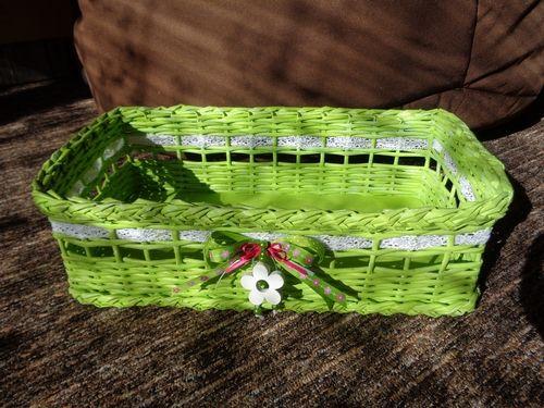 Vetší zelený košík....