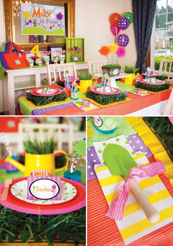 Vibrant & Fun Dr. Seuss Inspired Lorax Birthday Party