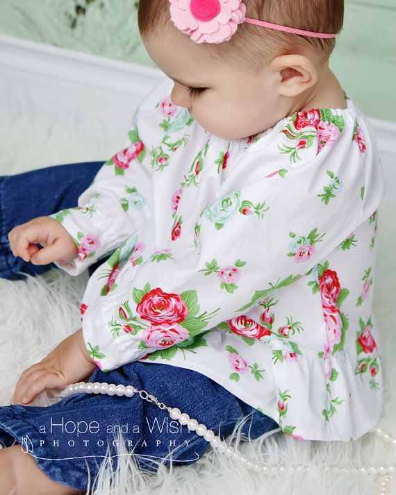 Chlldren Clothing Pattern  Baby Toddler Peasant Top  by tiedyediva, $6.95