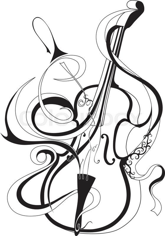 Stock Vector Of Vector Illustration Of Abstract Musical Instrument
