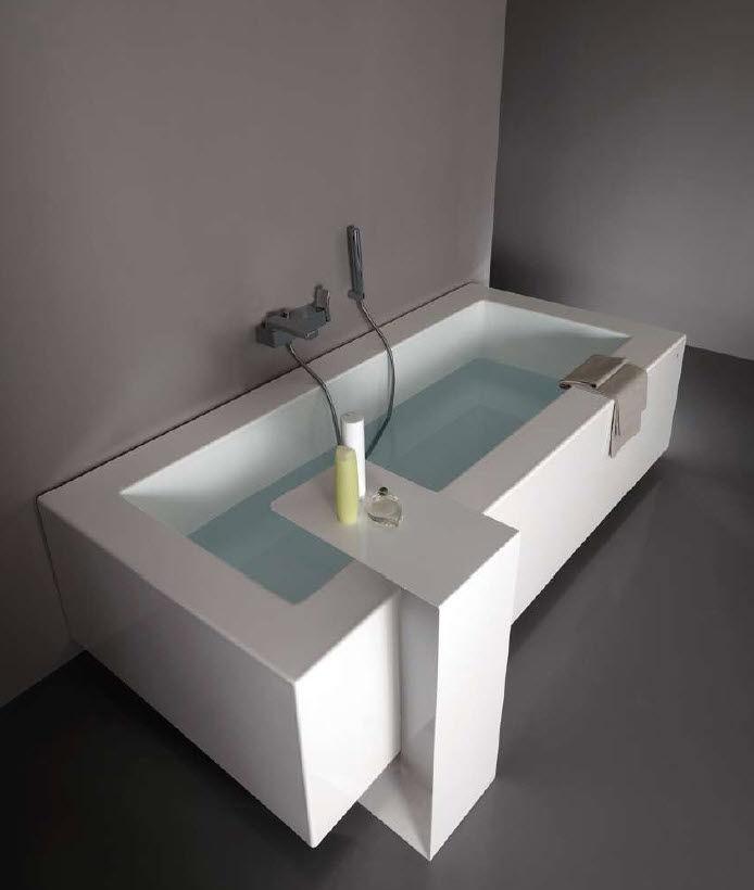 baignoire rectangulaire kos grande corian - Corian Dusche Osterreich