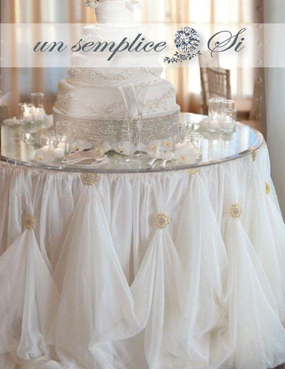 Cinderella Table Skirt Organza and Rhinestone by UnSempliceSi