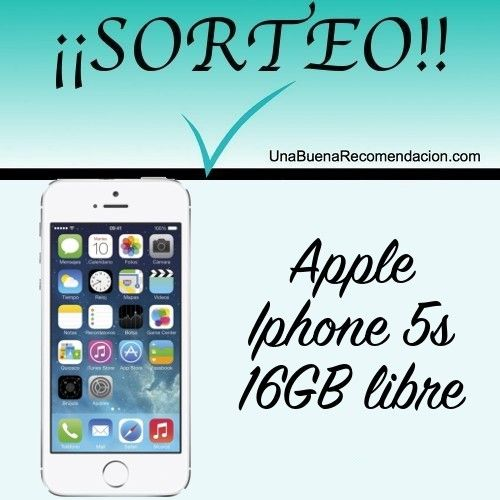 SORTEO APPLE IPHONE 5S 16GB LIBRE