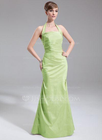 Bridesmaid Dresses - $99.99 - A-Line/Princess Halter Floor-Length Taffeta Bridesmaid Dress With Ruffle (007001857) http://jjshouse.com/A-Line-Princess-Halter-Floor-Length-Taffeta-Bridesmaid-Dress-With-Ruffle-007001857-g1857