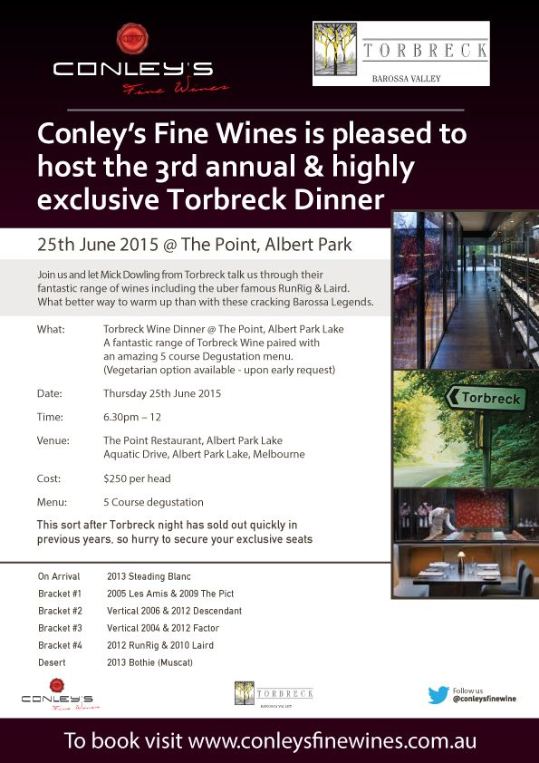 http://www.conleysfinewines.com.au/june-end-of-financial-year-torbreck-premium-wine-dinner-thurs-25th-of-june-2015-melbourne-australia/