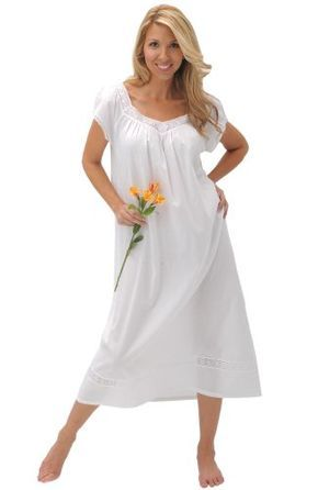 Del Rossa Women's Adele 100% Cotton Long Victorian Nightgown >>> READ REVIEW @ http://lingerie4everyone.com/store/del-rossa-womens-adele-100-cotton-long-victorian-nightgown/?c=8785