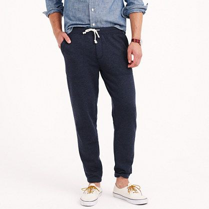"""Gone are the days of the baggy sweatpant —because they aren't just for laundry day anymore. This is how grown-ups do sweats. *For the taller guy, this pant is 3"""" longer in the leg.* J.Crew 