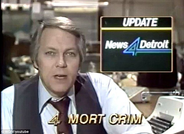 Inspiration: The steady baritone of Mort Crim of Channel 4 in Detroit gives his news update - one of many that inspired Will Ferrell to crea...
