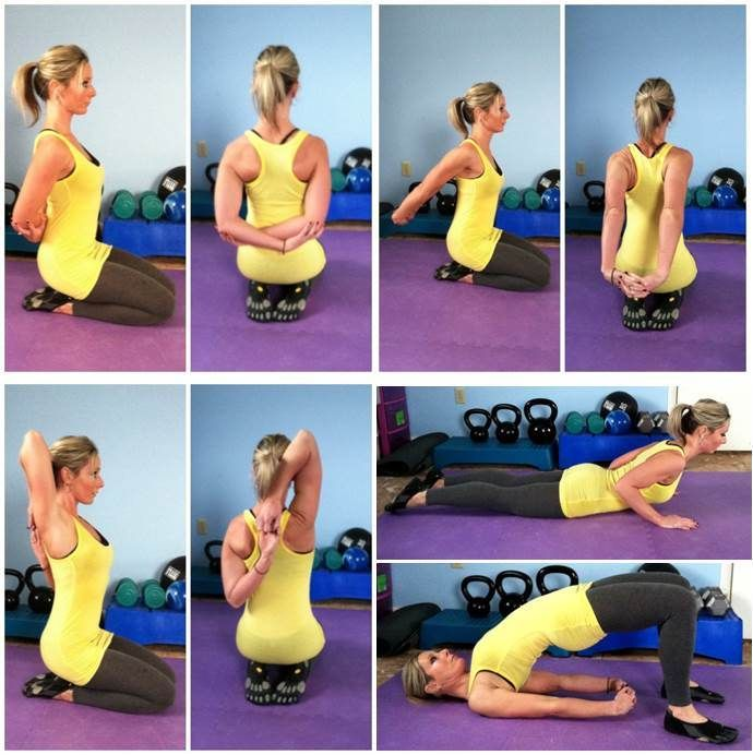 Stretches and poses for better posture and to prevent rounded shoulders