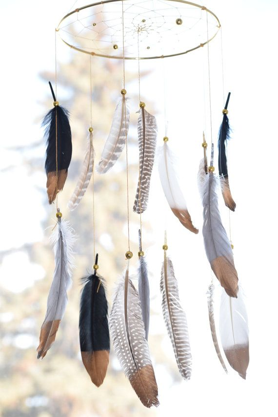Woodland Nursery Decor Dreamcatcher Mobile by BlueDreamcatcher