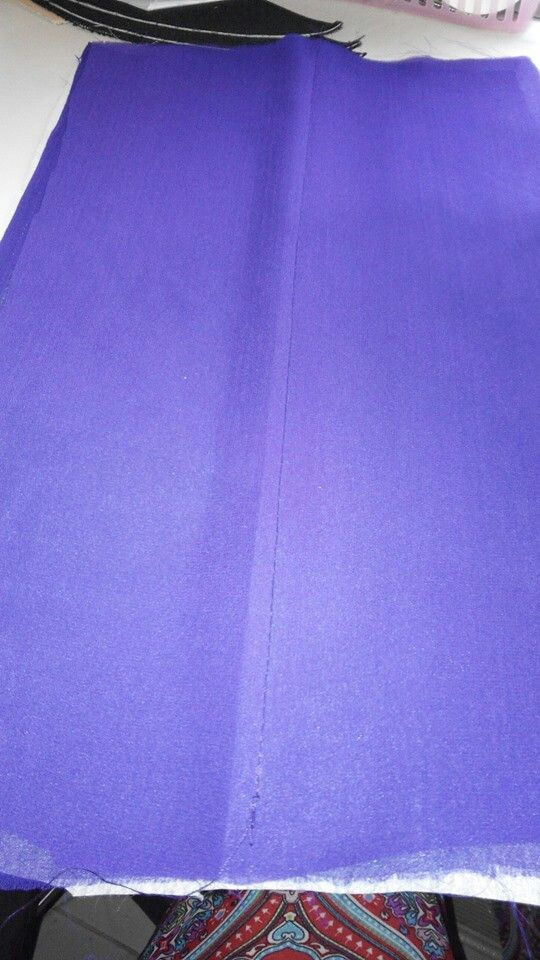 Tudung twist 6 - letak sehelai chiffon lagi di atas kain chiffon yg sudah diiron kain gam.