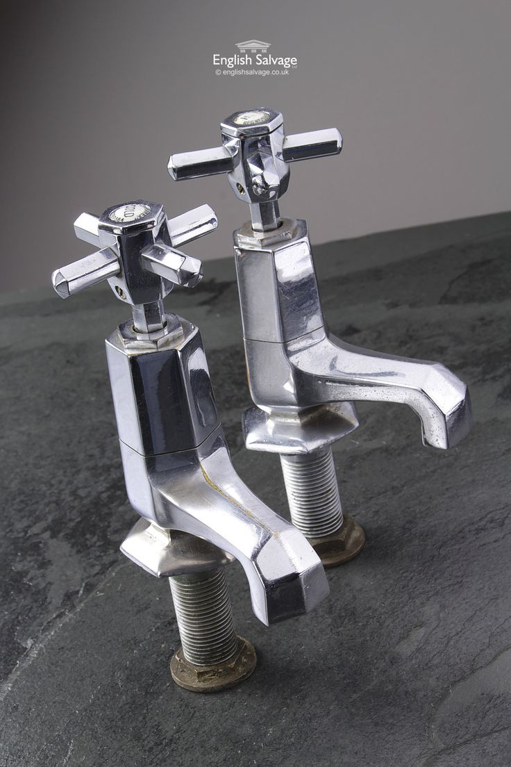 Shanks sink and stand reclaimed porcelain sinks and chrome stands - Restored Pair Of Art Deco Chrome Basin Taps
