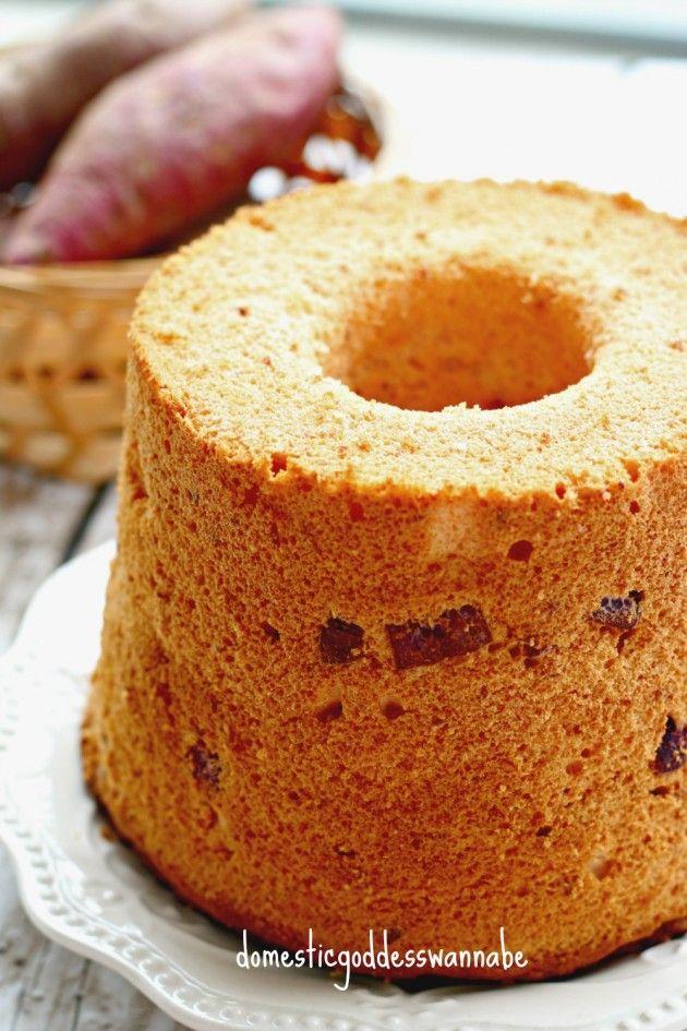sweet potato chiffon cake | The Domestic Goddess Wannabe