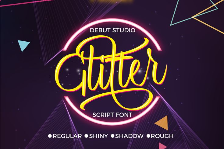 Glitter Script Font  This font is inspired from handwriting itself, suitable for a wide range of projects and uses due to its ornamental charm and beauty. This is truly a standout script crafted with precision and attention to detail.