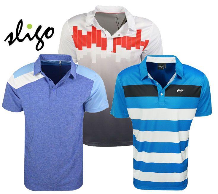 Sligo golf mens athletic polos rock bottom golf for Sligo golf shirts discount