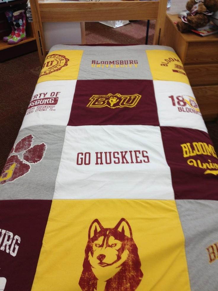 Bloomsburg University Varsi-Tee Blanket