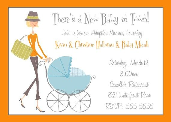 Adoption Shower Invitation
