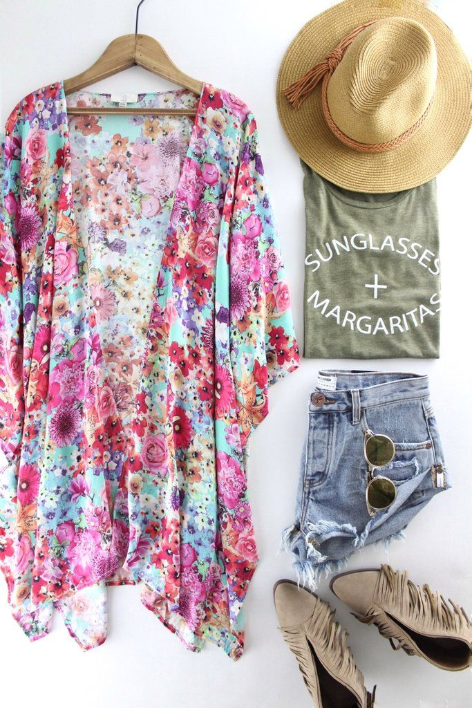Floral Print Kimono   The Rollin' J   summer outfits   spring style   boutique fashion   therollinj.com
