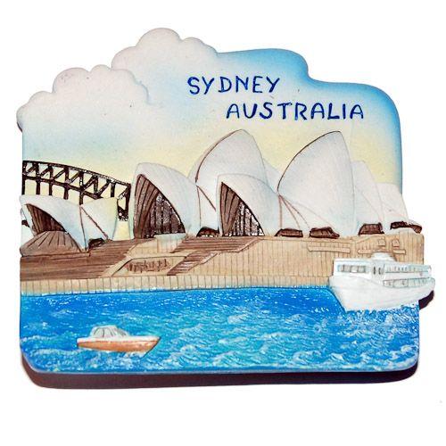 Resin Fridge Magnet: Australia. Sydney Opera House