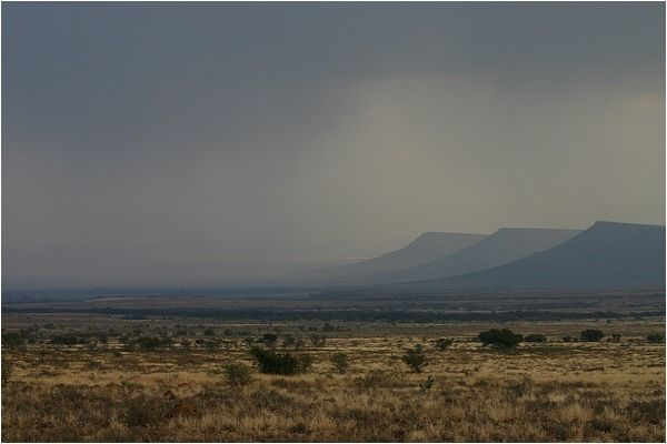 Stormy skies over the Karoo. I can almost smell the rain...