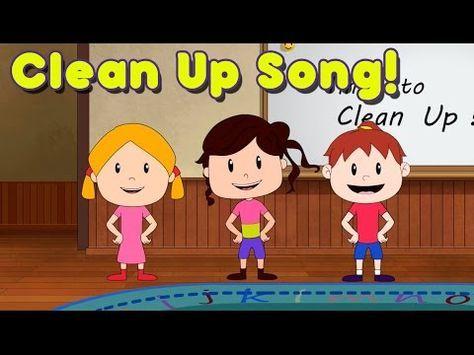 Clean Up Song for Children   Kindergarten   Preschool   by ELF Learning - YouTube