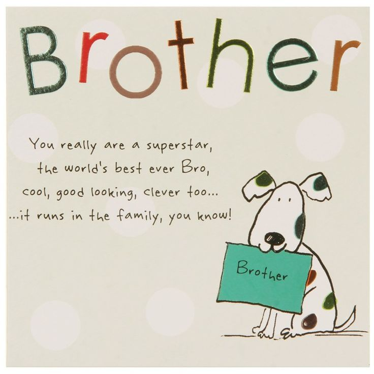 Brother Birthday Cards - Google Search
