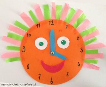 Maak leren klok kijken nog leuker!! http://kinderknutseltips.nl/klok-knutselen-leren-klok-kijken/
