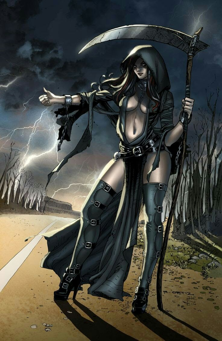Lady Death Female Grim Reaper Fantasy Art Women Grimm Fairy Tales Comic Grim Reaper Art