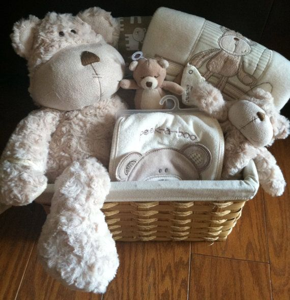 adorable bear baby gift basket for the new arrival