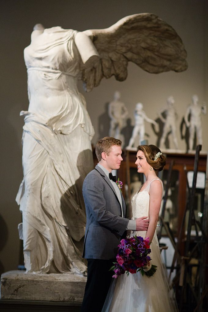A museum wedding is the perfect venue for an art history lover! It's modern and antique and absolutely fantastic.