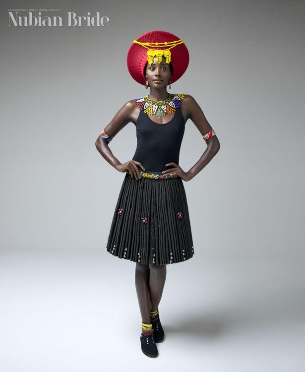 Traditional zulu wedding attire. www.nubianbride.co.za