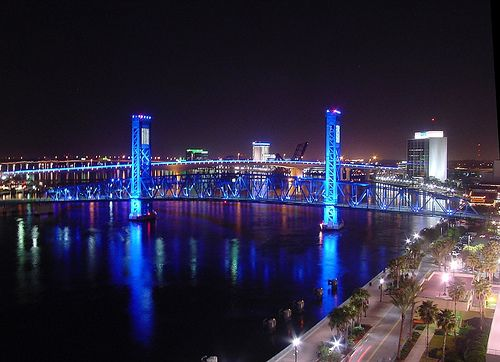 Jacksonville Landing. Nothing but clubs and restaurants surrounding that bridge. Had so much fun!