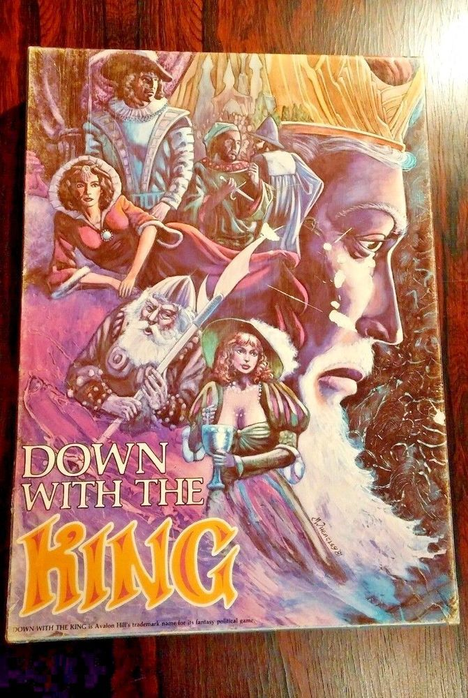 Down with the king board game HUGE SALE $22.09 1986 Brand Avalon Hill Theme Royalty  #AvalonHill