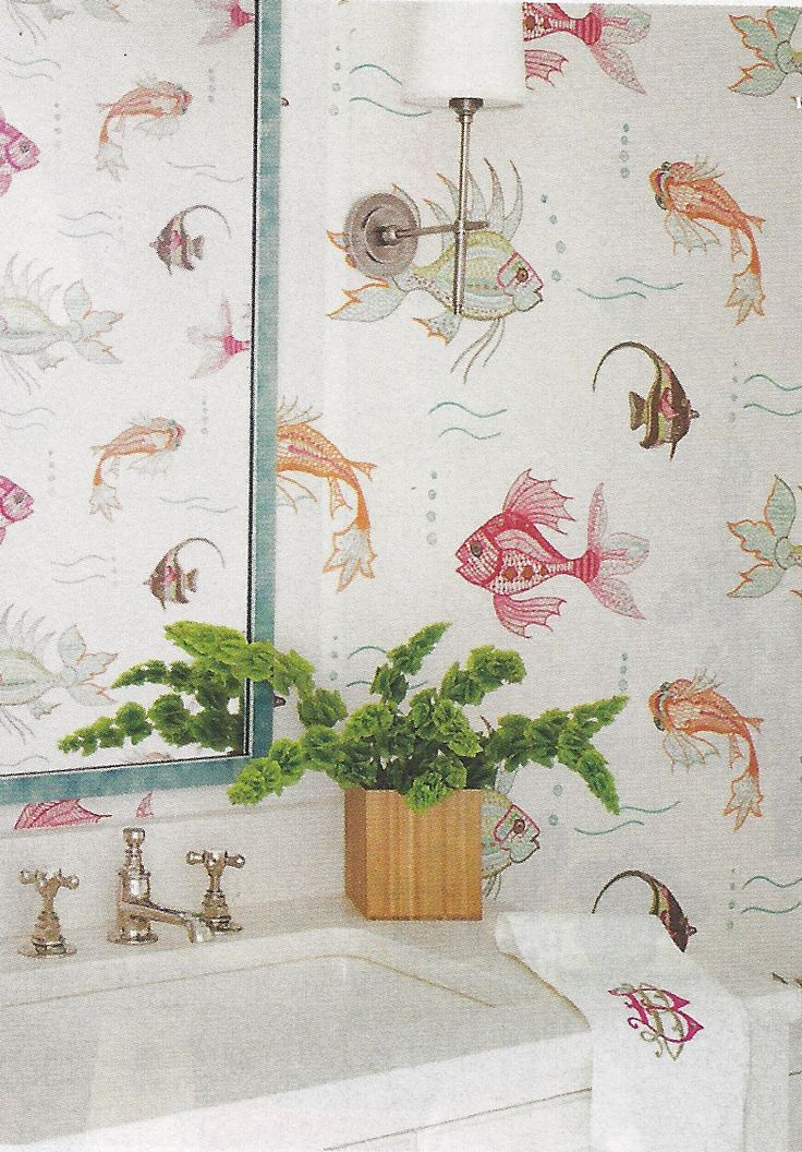 Osborne U0026 Little Aquarium Wallpaper (Coastal Living September 2013)