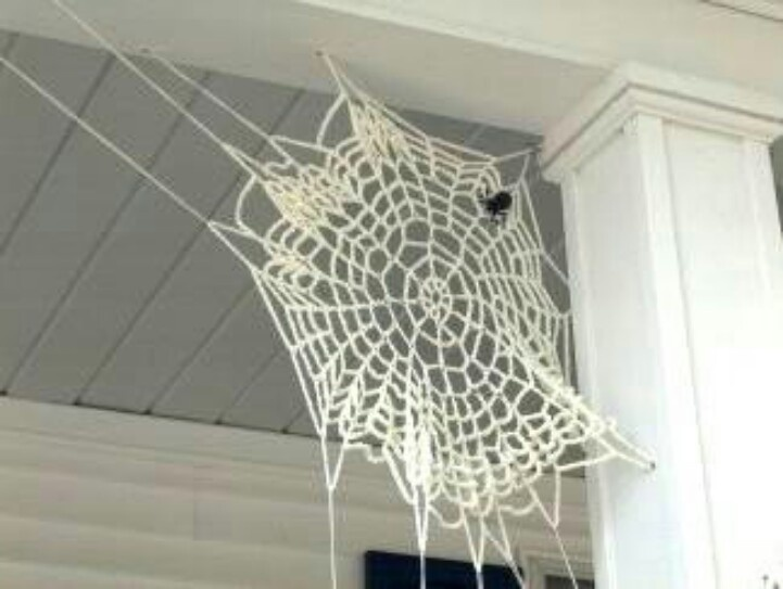 Crochet spider web...... the only one I could barely tolerate at my house!