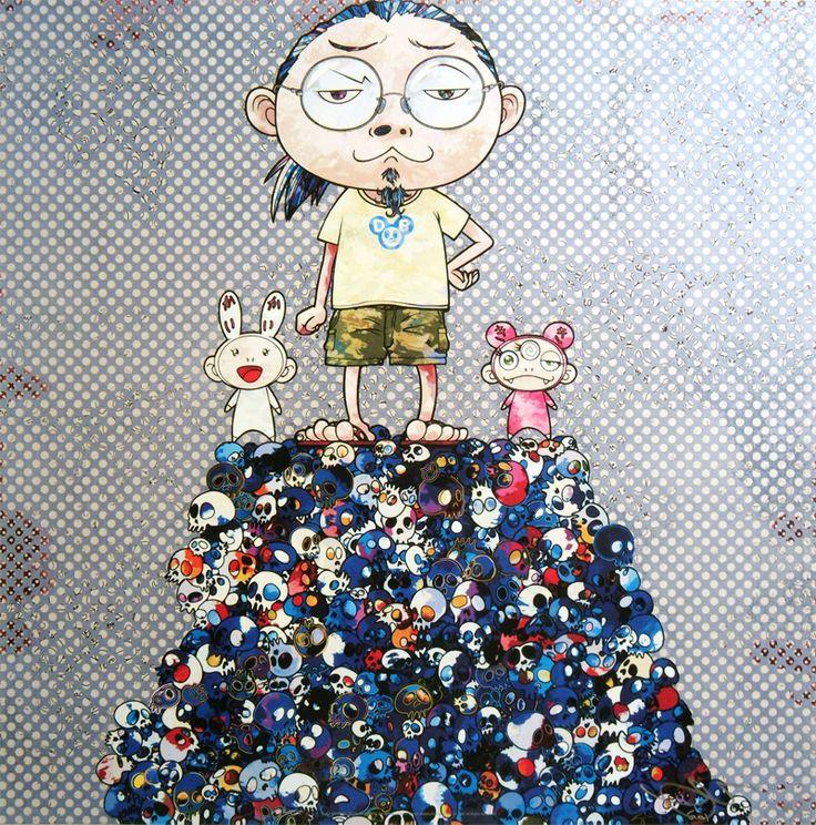 Takashi Murakami Prints for sale - Kaikai Kiki & Me: On the blue mound of the dead  #murakami #takashimurakami #pop #kaikai #kiki #print  https://www.artetrama.com/en/artworks/takashi-murakami-kaikai-kiki-me-on-the-blue-mound-of-the-dead