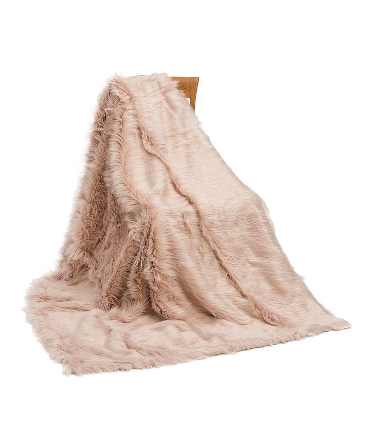 Blush Shaggy Throw Blanket