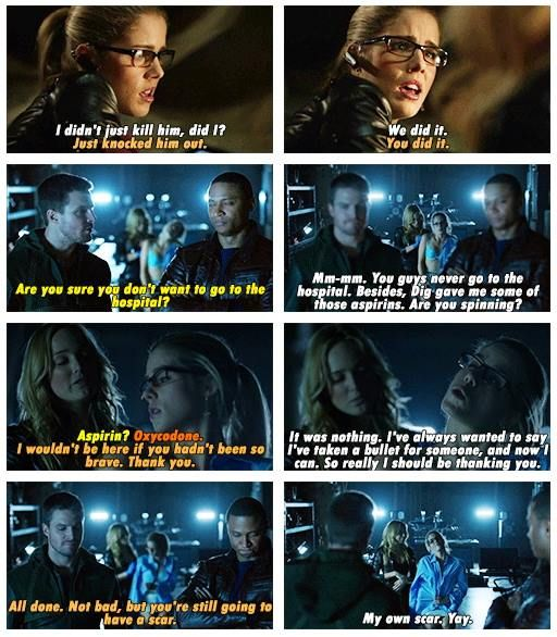 Arrow - Sara, Diggle, Oliver & Felicity #2.14 #Season2