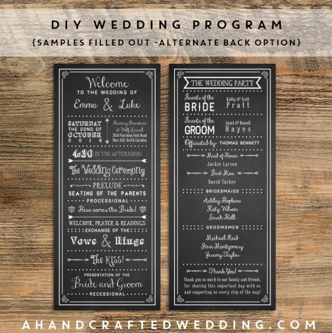 chalkboard-sample-diy-wedding-program-template-2-ahandcraftedwedding