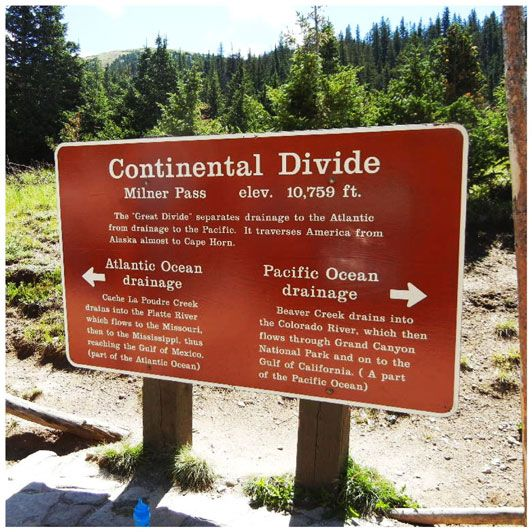 Continental Divide Trail in Rocky Mountain National Park