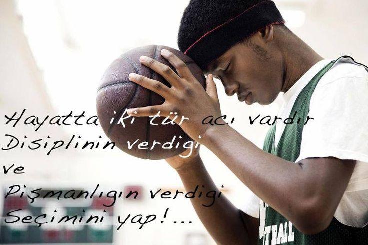Aslında disiplin acı vermez. Disiplin, istikrar içerir. İrade ve adanmışlık gerektirir. Bazen bunları içimizde bulmak için zorlanabiliriz ve bulamadığımızda canımız yanar. Bulduğumuzda ise disiplin, hayattaki en zevkli şeylerden biridir... http://www.basketall.org/ #basketall_org