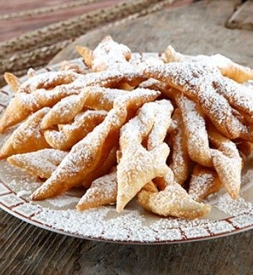 """Find LITHUANIAN ingredients for this very popular treat Twigs or """"Little Ears"""" - A melt in your mouth fried pastry strip at the GROCERY SHOPPING GUIDE at the All About Cuisines web site. #Lithuanian Recipes #Lithuanian Food"""