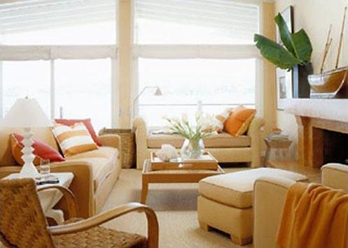 101 best orange living rooms images on pinterest living - Orange and cream living room ideas ...