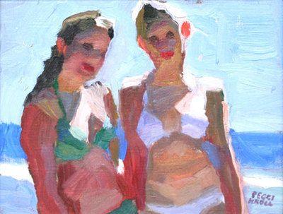 """Kroll-Roberts, Peggi - Peggi Kroll Roberts - Teen SistersPeggi Kroll Roberts - Teen Sisters Oil on Canvas Panel 8 """" x 6 """" PLV1154 $1,100"""