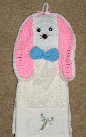 USD4~Hippety Hoppety Bunny Towel Topper