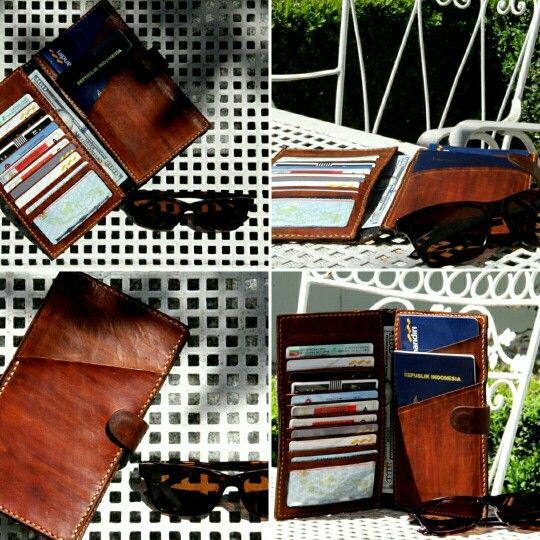 Leather passport wallet - by MyHand